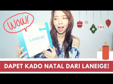 UNBOXING LANEIGE CHRISTMAS GIFT BOX | KOREAN SKINCARE & MAKEUP - YouTube