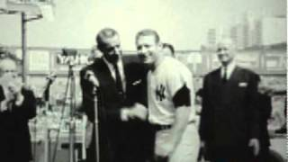 MICKEY MANTLE & JOE DIMAGGIO AT YANKEE STADIUM - 1965