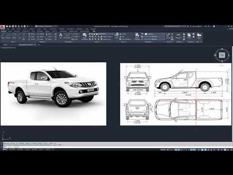 AutoCAD 2020 การออกแบบรถ 3D ตอนที่ 1