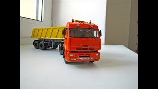 Масштабна модель КАМАЗ-6460 з п/п МАЗ-9506-20 SSM в масштабі 1:43
