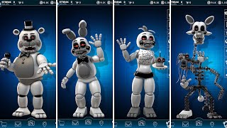 FNAF AR 4th Closet Toy Animatronics Jumpscare & Workshop Animations
