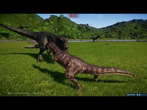 Jurassic World Evolution Carnivore Battle Royale Cretaceous Dino pack |