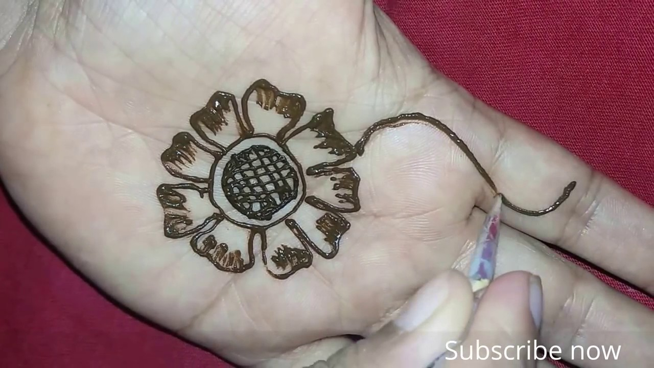 Heena Mehndi Designs Simple And Quick Drawing For Hand Small And