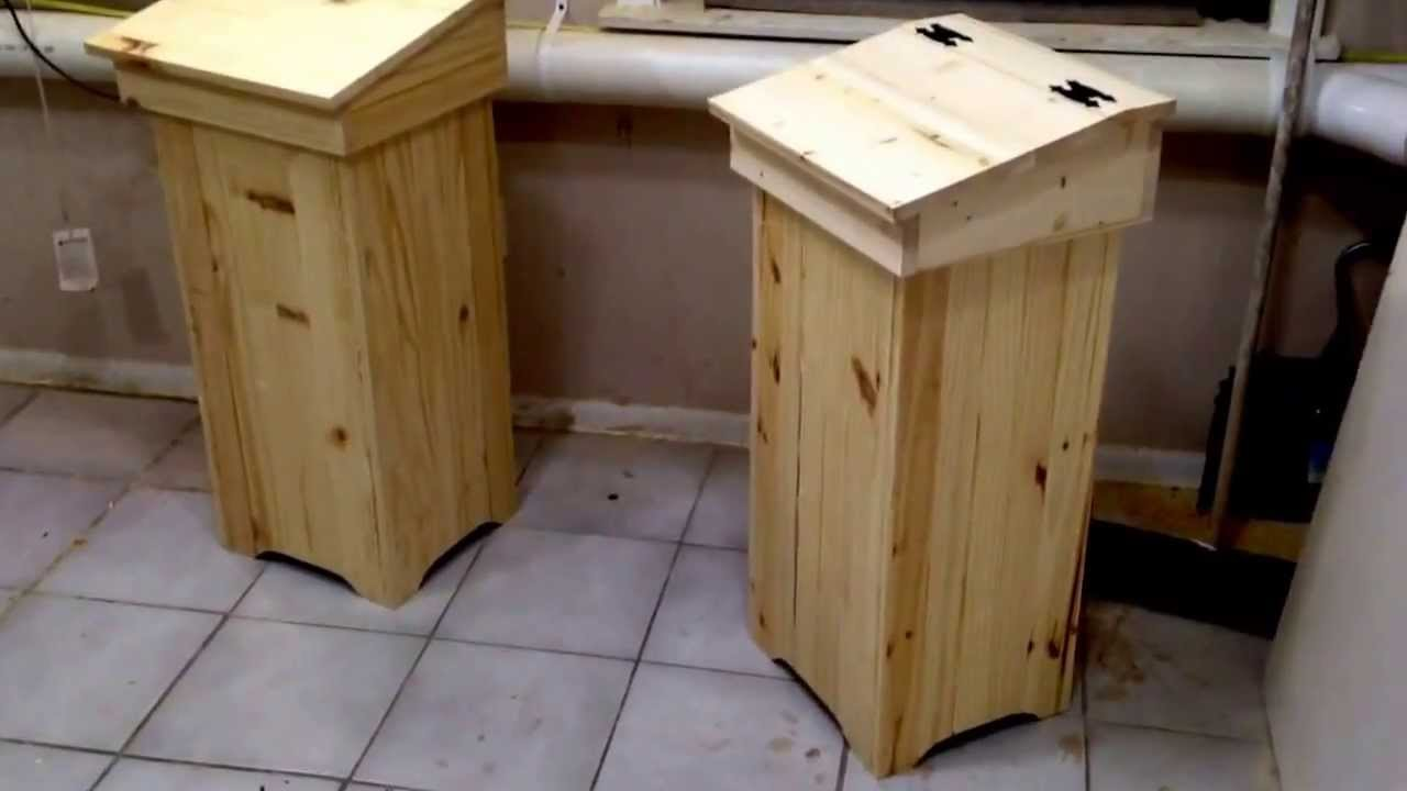 Wooden Trash Can Preview Youtube