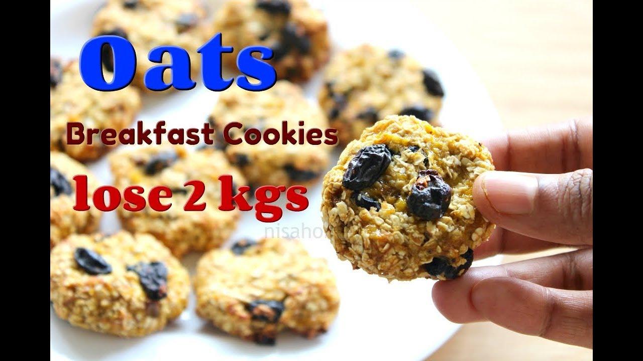 Oat Cookies Lose 2 Kgs In 1 Week Oats Recipes For Weight Loss Banana Oatmeal Breakfast Cookies Youtube