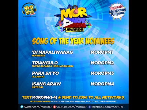 MOR Pinoy Music Awards Song Of The Year Nominees