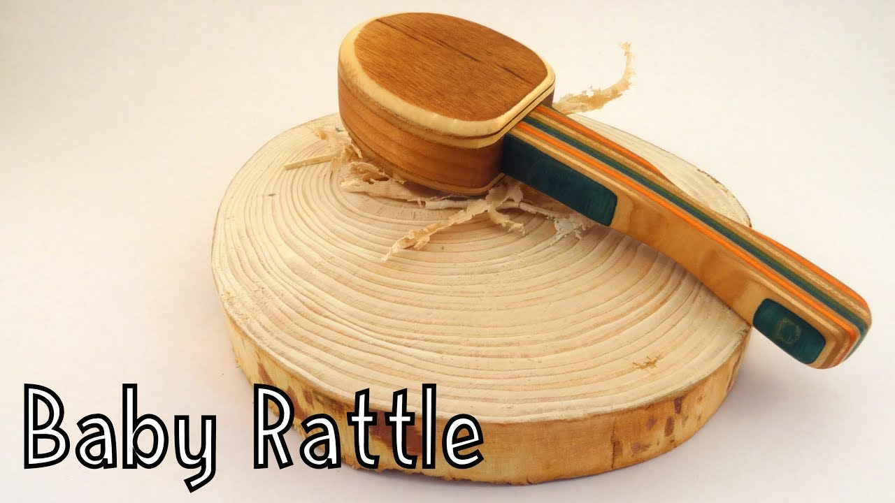 how to make a wooden toy baby rattle - wooden creations