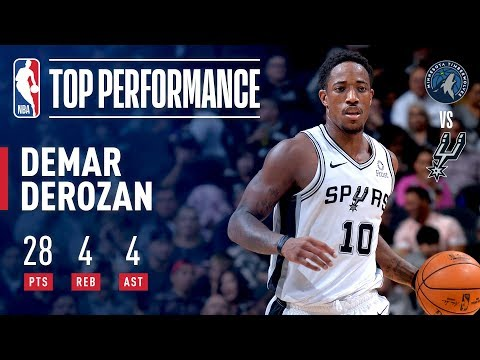 DeMar DeRozan Season Debut With The San Antonio Spurs | October 17, 2018