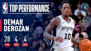 DeMar DeRozan Season Debut With The San Antonio Spurs | October 17, 2018