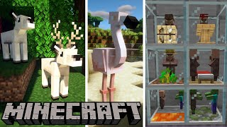 Top 12 Minecraft Mods Of The Week | Easy Villagers, Into The Omega, Iron Elytra, Scuba Gear and More