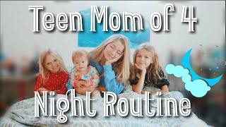 Teen Mom of 4 NIGHT ROUTINE // 18 and pregnant (again)