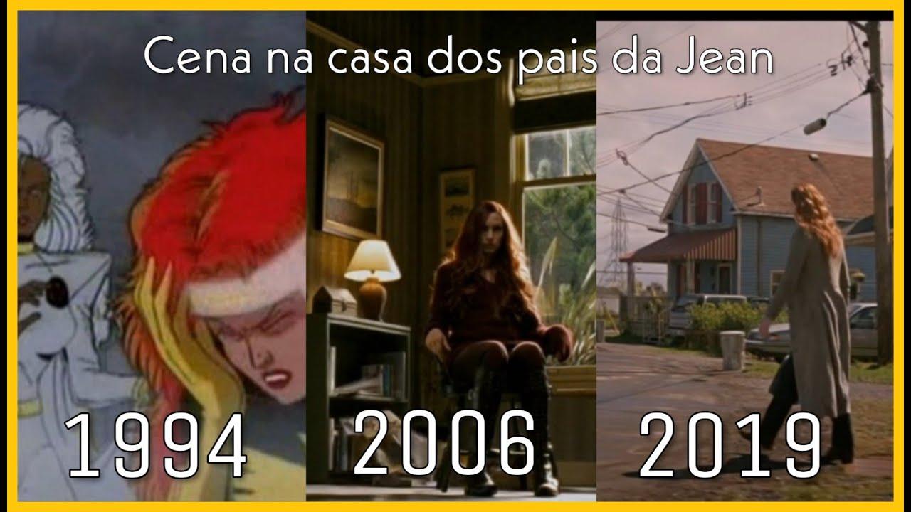 X-Men Fênix Negra - Cena na casa dos pais da Jean (1994-2006-2019)