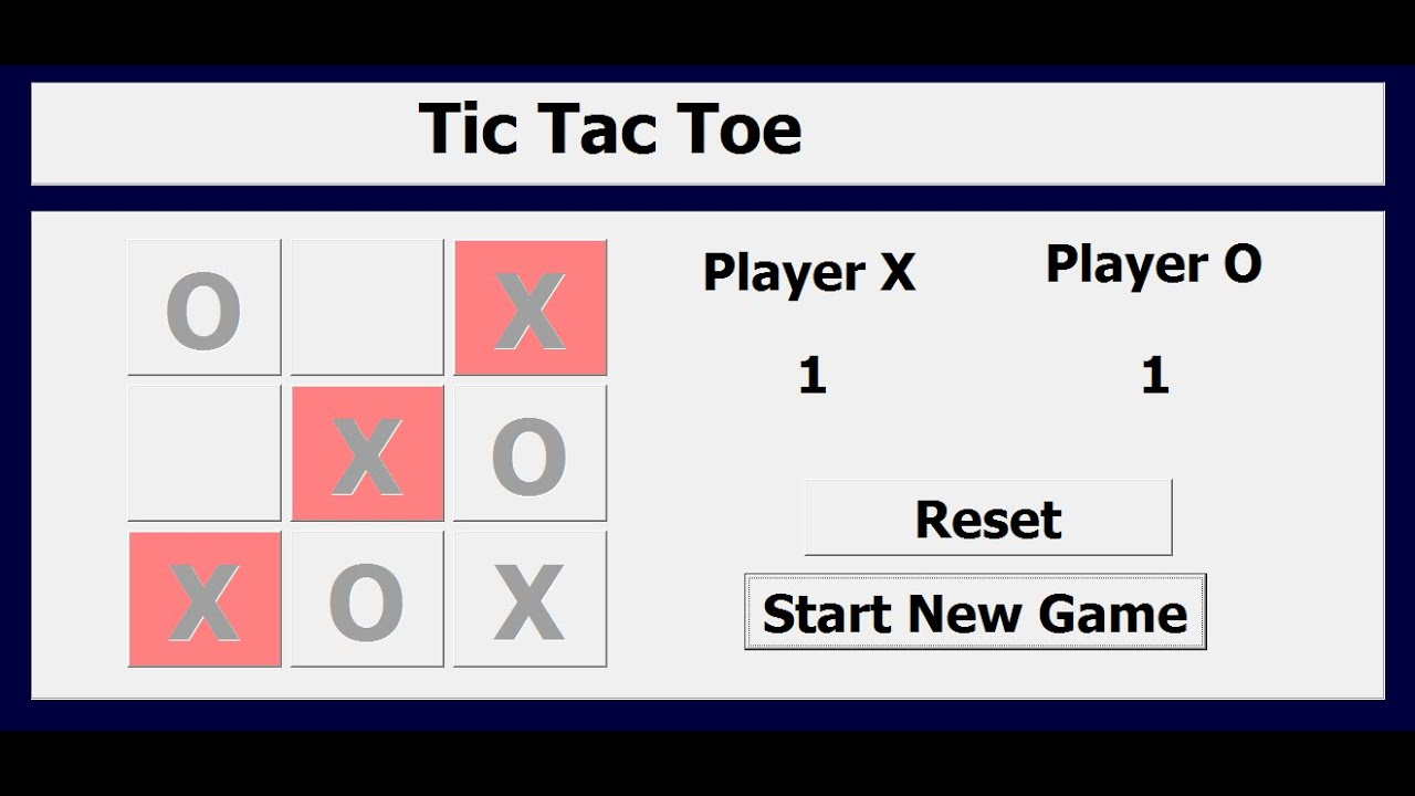 How To Create Tic Tac Toe Game In Excel Using Vba Youtube