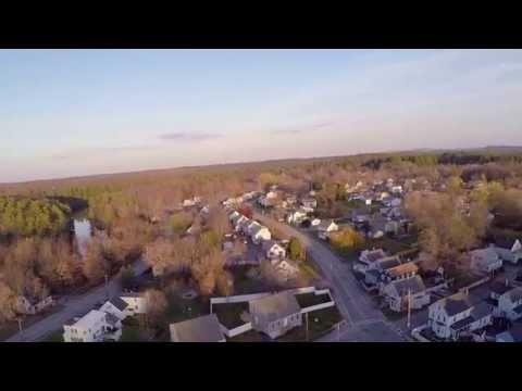 Somersworth, New Hampshire - Aerial Drone Footage of Jules Bisson Park on Veteran's Day