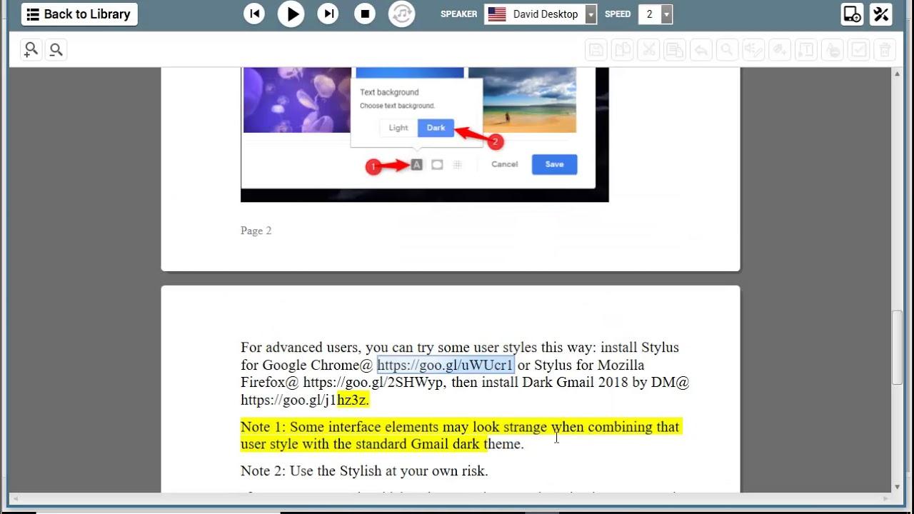 Turn on dark mode for Gmail & Chrome