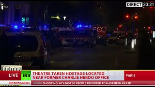Night in Paris: Hostage situation, dozens dead in gunfire, suicide blasts