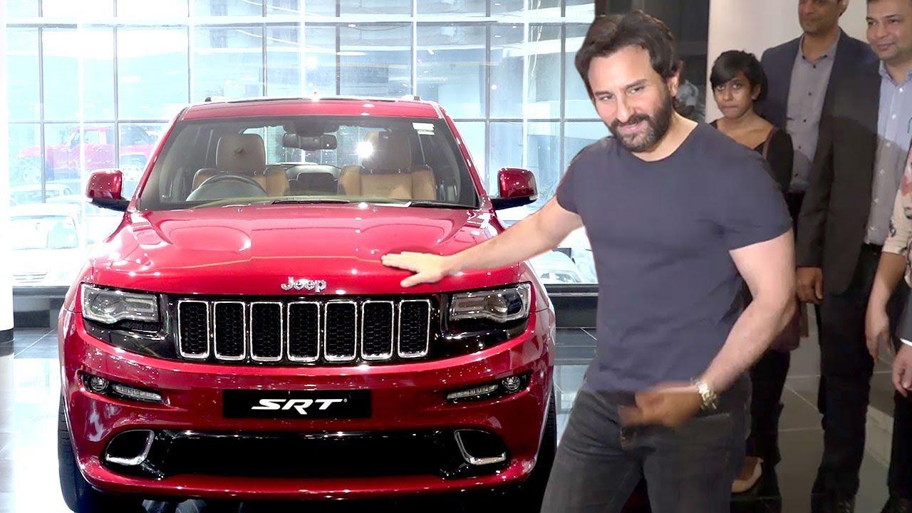 saif ali khan buying his new car at jeep showroom in mumbai youtube. Black Bedroom Furniture Sets. Home Design Ideas