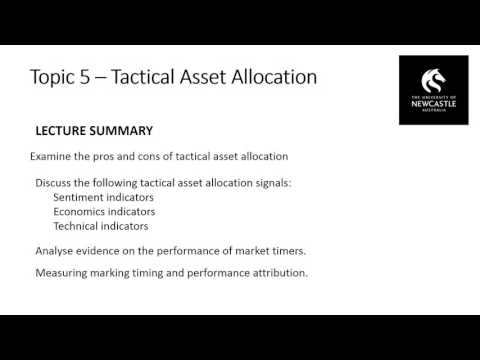 Topic 5 – Tactical Asset Allocation
