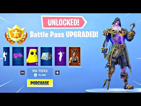 BUYING ALL 100 TIERS Season 8 Battle Pass ALL ITEMS UNLOCKED - Fortnite Battle Royale