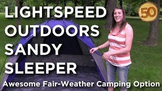 Camping Gear- LightSpeed Outdoors Sandy Sleeper - 50 Campfires