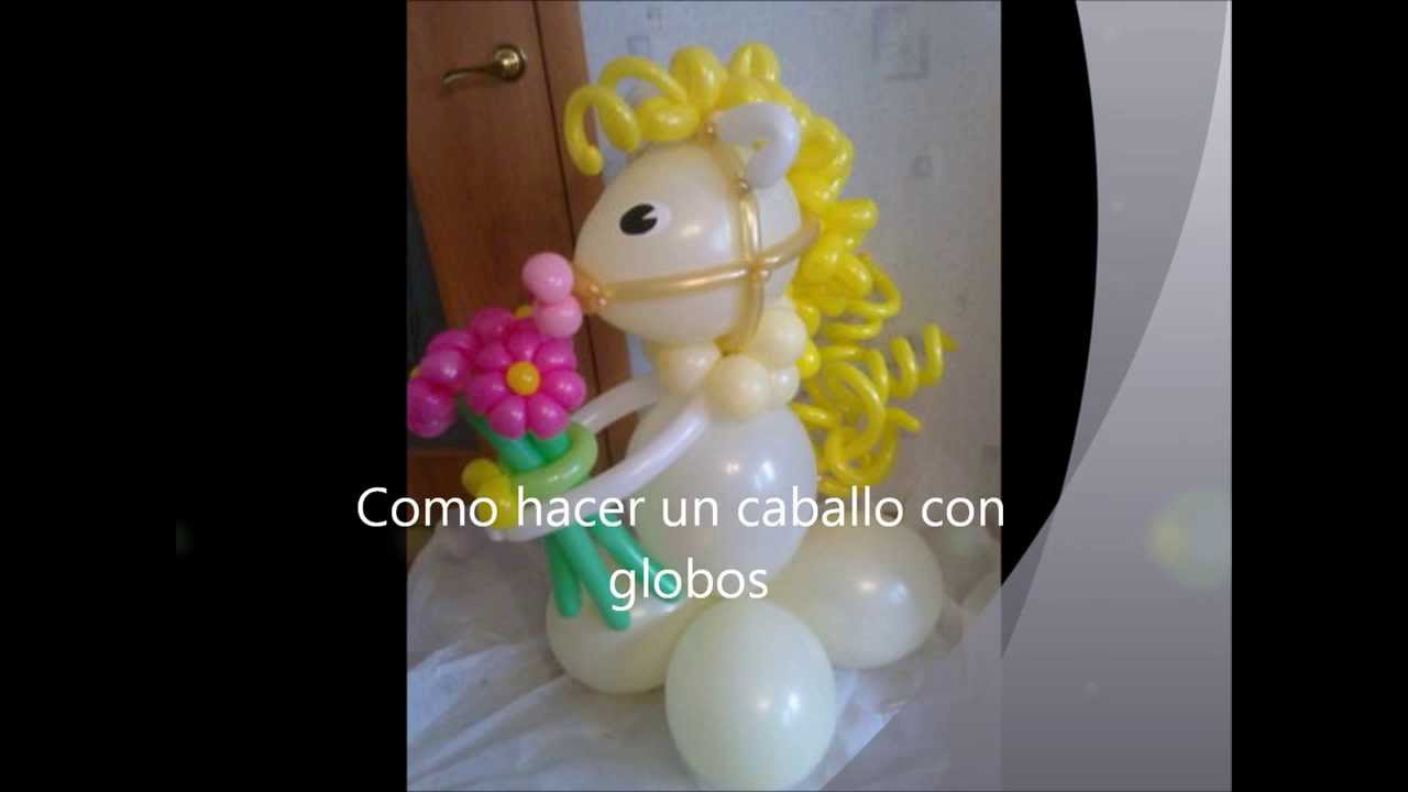 Como hacer un caballo con globos how to make a horse - Hacer decoraciones con globos ...