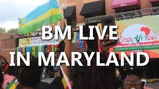 bm live in maryland usa fest africa