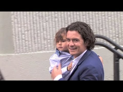 ORLANDO BLOOM brings his handsome son FLYNN to Hollywood Walk of Fame induction