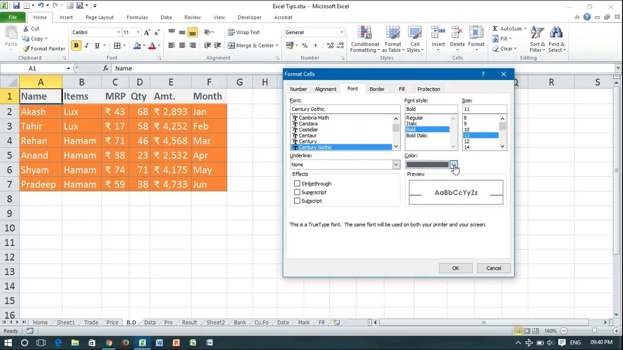 How to Apply the TOTAL Cell Style Using Excel 2013 - YouTube