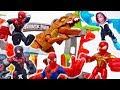 Go Spider-Man, Spider-Gwen, Miles Morales And Iron Spider~! #ToyMartTV