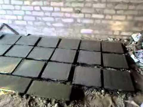 Изготовление тротуарной плитки дома.zavisitottebya точка ru.