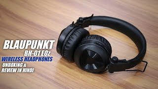 Blaupunkt BH01 Bluetooth On-Ear Wireless Headphone with Turbo Bass Mode Unboxing amp Review in Hindi