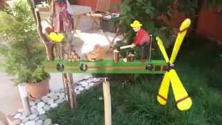 Whirligig Wood Man,  Dog And Woodpecker