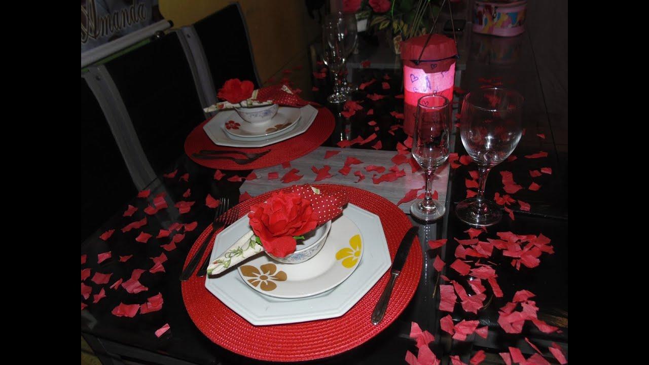 Com fazer mesa rom ntica dia dos namorados youtube for Cena romantica para mi novio