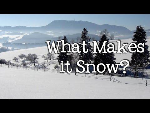 What Makes It Snow? Winter Precipitation For Kids - FreeSchool