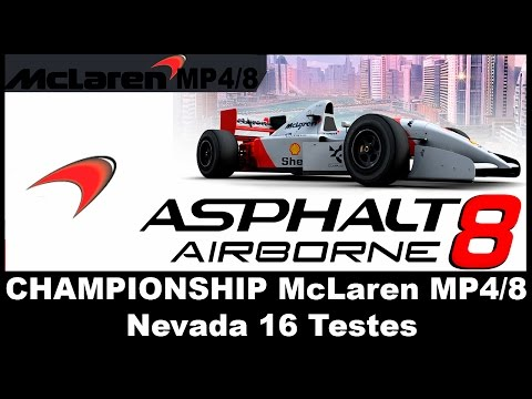 Asphalt 8 - Championship McLaren MP4/8 (Nevada 16 tests)