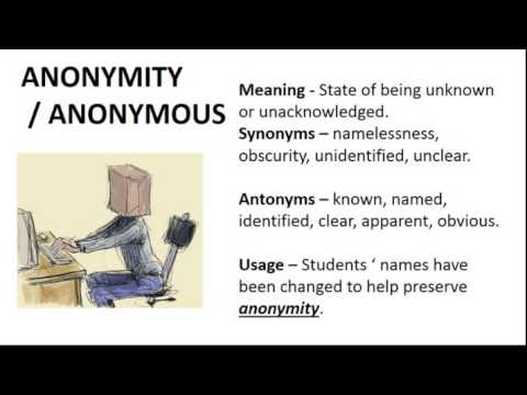 Anonymity | Definition of Anonymity by Merriam-Webster