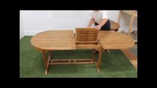 Teak 120inch Double Extension Table
