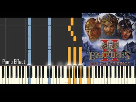 Age of Empires 2 - Main theme (Piano Tutorial Synthesia)
