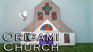 Easy Origami Church (diff 5/10) おりがみ教会 Take me to church (église Kirche iglesia)
