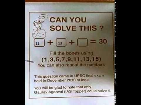 Can You Solve This 1 3 5 7 9 11 13 15 30 The Solution