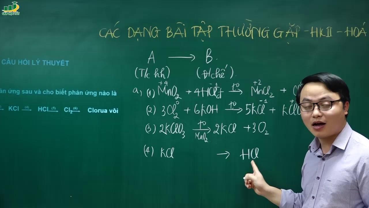 Hóa học 10 –Ôn tập lí thuyết hóa học 10 kì 2 (P1)|Hoàn thành chuỗi phản ứng|Đề cương ôn tập kiểm tra