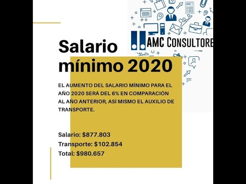 ✅ SALARIO MÍNIMO 2020 Y LIQUIDACIÓN DE SUELDO.