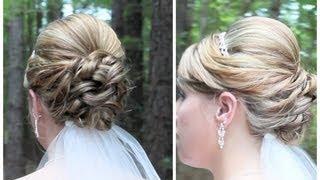 Bridal Updo on Shoulder Length Hair