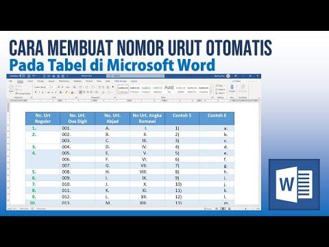 Cara Mudah Membuat Nomor Urut Otomatis di Tabel Microsoft Word