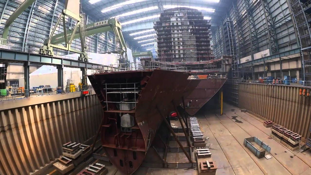 Innovative Shipbuilding Construction For Anthem Of The Seas YouTube - Cruise ship builders