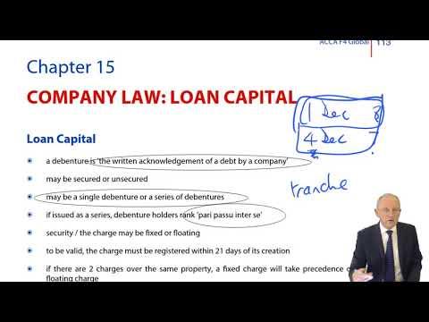 ACCA F4 Global - Company Law: Loan Capital