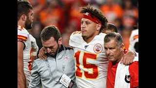 Chiefs' Patrick Mahomes' knee injury is the big story in Denver