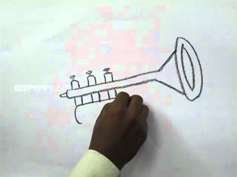 how to draw a trumpet youtube