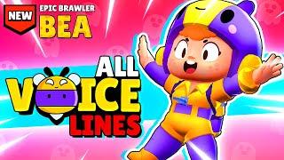 NEW! EPIC Brawler BEA: All 27 Voice Lines u0026 Animations! - Brawl Stars December Update