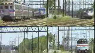 A quintet of trains on Amtrak Northeast Corridor